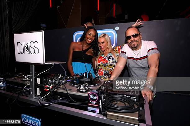 IceT and Coco and DJ Kiss have fun at Durex Get InSync Party on June 21 2012 at Chrystie 141 in New York City