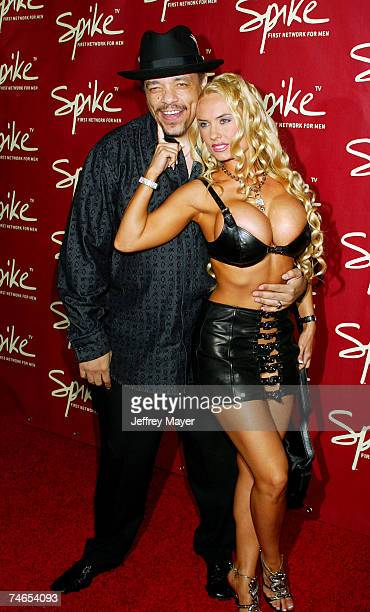 IceT and Coco at the Playboy Mansion in Los Angeles California
