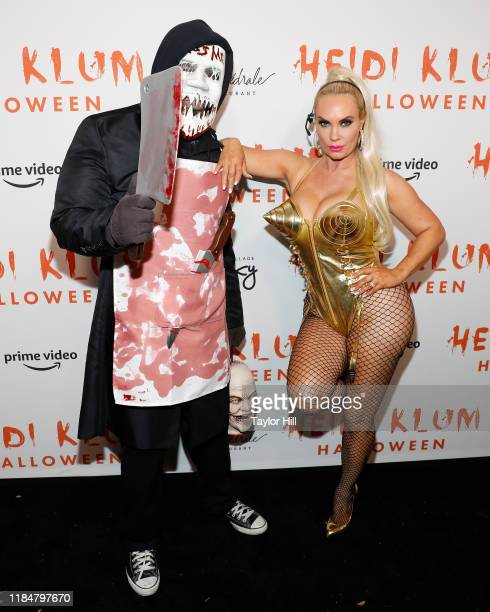 Ice-T and Coco attend Heidi Klum's Annual Hallowe'en Party at Cathedrale on October 31, 2019 in New York City.