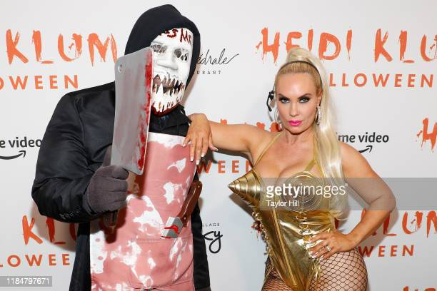 IceT and Coco attend Heidi Klum's Annual Hallowe'en Party at Cathedrale on October 31 2019 in New York City