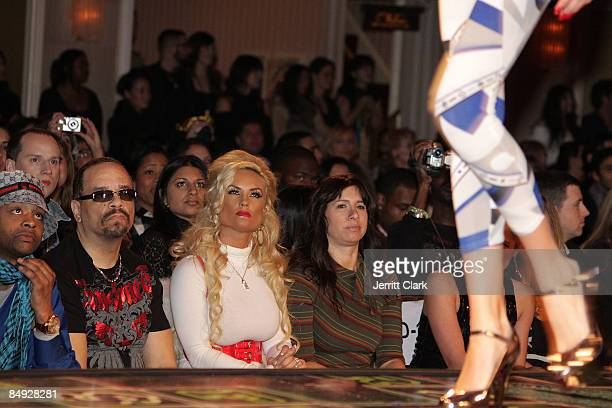 IceT and CoCo attend Richie Rich Fall 2009 fashion show during MercedesBenz Fashion Week at Waldorf=Astoria on February 18 2009 in New York City