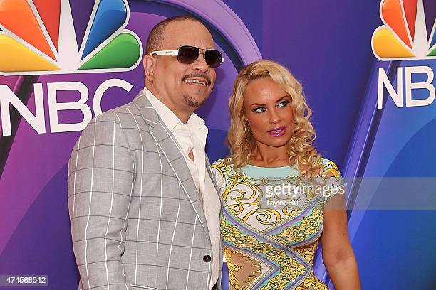 IceT and Coco attend the 2015 NBC Upfront Presentation Red Carpet Event at Radio City Music Hall on May 11 2015 in New York City