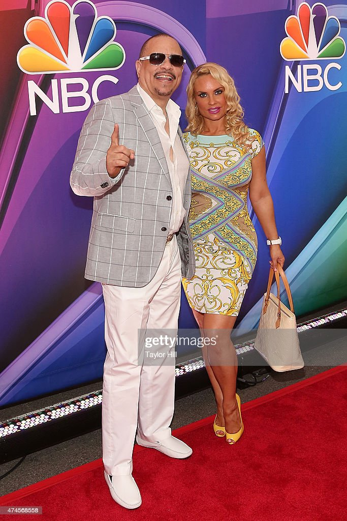 Ice-T and Coco attend the 2015 NBC Upfront Presentation Red Carpet Event at Radio City Music Hall on May 11, 2015 in New York City.