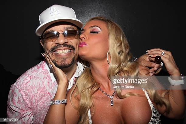 IceT and CoCo attend the JM Magazine launch party at La Pomme on November 18 2009 in New York City