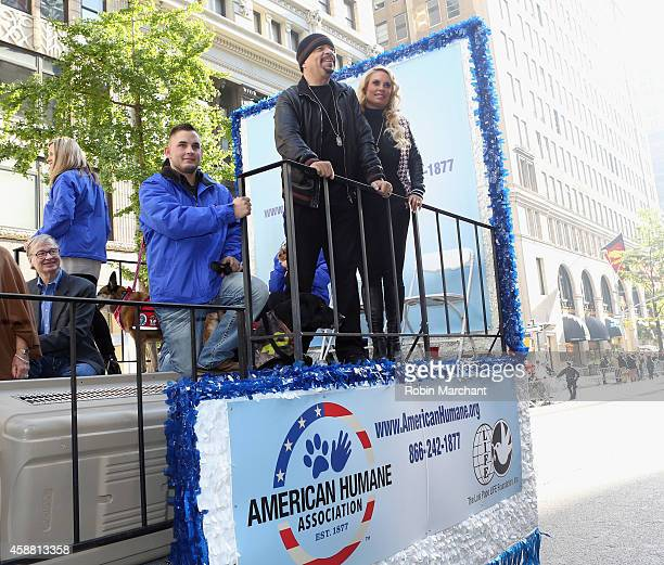 IceT and Coco Austin attend America Salutes FourLegged Military Heroes During 2014 Veterans Day Parade on November 11 2014 in New York City