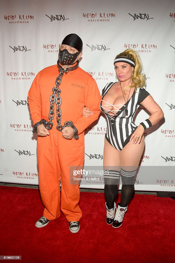 Ice-T and Coco Austin attend Heidi Klum's 17th Annual Halloween Party at Vandal on October 31, 2016 in New York City.