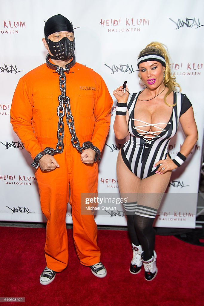Ice-T (L) and Coco Austin attend Heidi Klum's 17th Annual Halloween party at Vandal on October 31, 2016 in New York City.