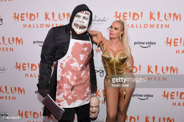 IceT and Coco Austin attend Heidi Klum's 20th Annual Halloween Party presented by Amazon Prime Video and SVEDKA Vodka at Cathédrale New York on...