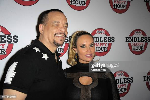 IceT and Coco Austin attend TGI Fridays Endless Happy Hour with IceT at TGI Fridays on March 3 2017 in New York City