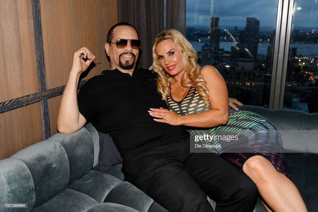 Ice-T and Coco Austin attend WE tv and Traci Braxton celebrate the new season of Braxton Family Values at The Skylark on August 21, 2018 in New York City.
