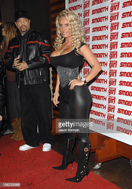 IceT and Coco during Coco Hosts Smooth Magazine January Issue Cover Party January 22 2007 at Blvd in New York City New York United States