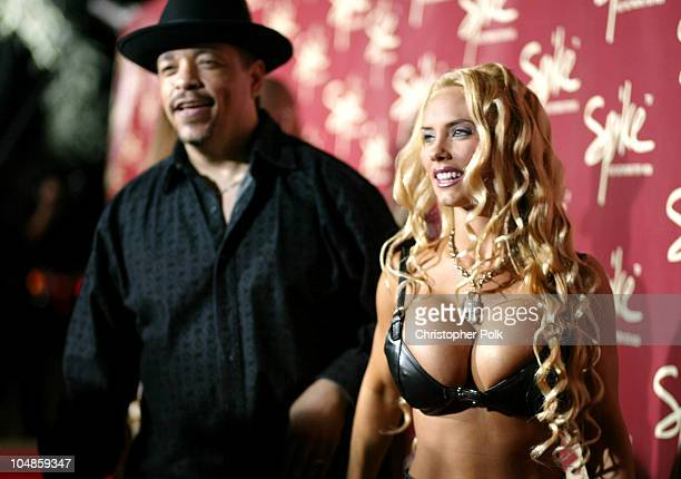IceT and Coco during The Official Launch Party For Spike TV At The Playboy Mansion Arrivals at The Playboy Mansion in Bel Air California United States