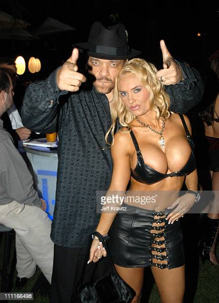 Ice-T and Coco during The Official Launch Party For Spike TV At The Playboy Mansion - Inside at The Playboy Mansion in Bel Air, California, United...