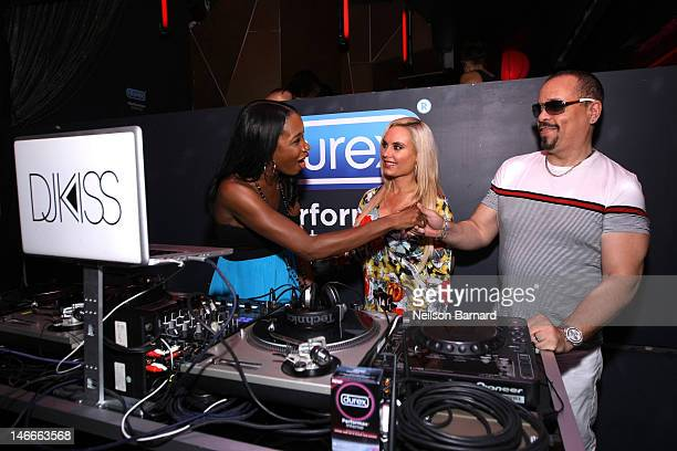 IceT and Coco greet DJ Kiss at Durex Get InSync Party on June 21 2012 at Chrystie 141 in New York City