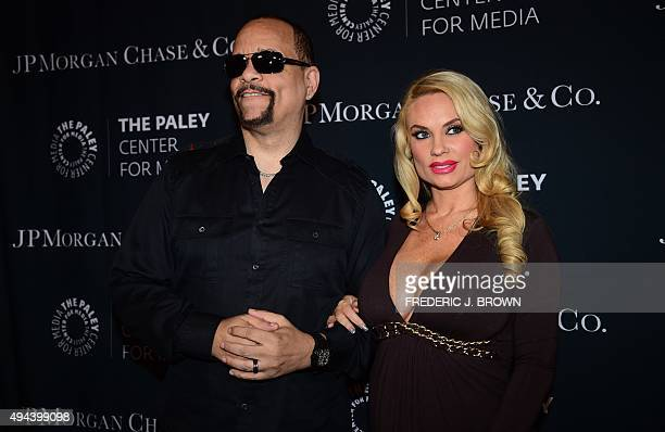 IceT and Coco pose on arrival at The Paley Center For Media's Hollywood Tribute to African American Achievements in Television on October 26 2015 in...
