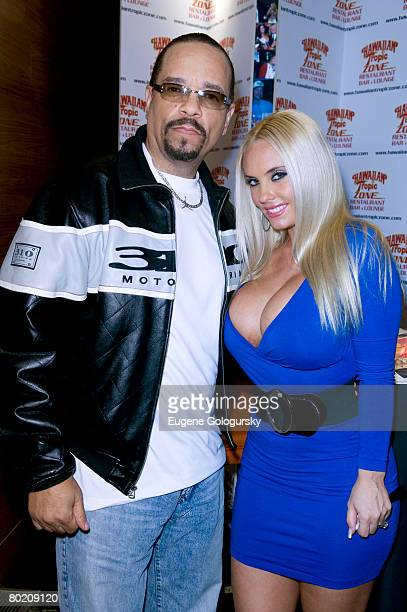 IceT and Coco sign autographs of her pictorial in Playboy at The Hawaiian Tropic Zone on March 11 2008 in New York City