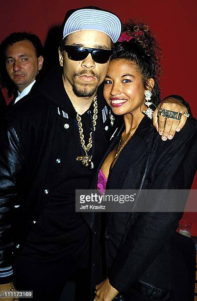 IceT and Darlene Ortiz during 1989 MTV Video Music Awards in Los Angeles California United States