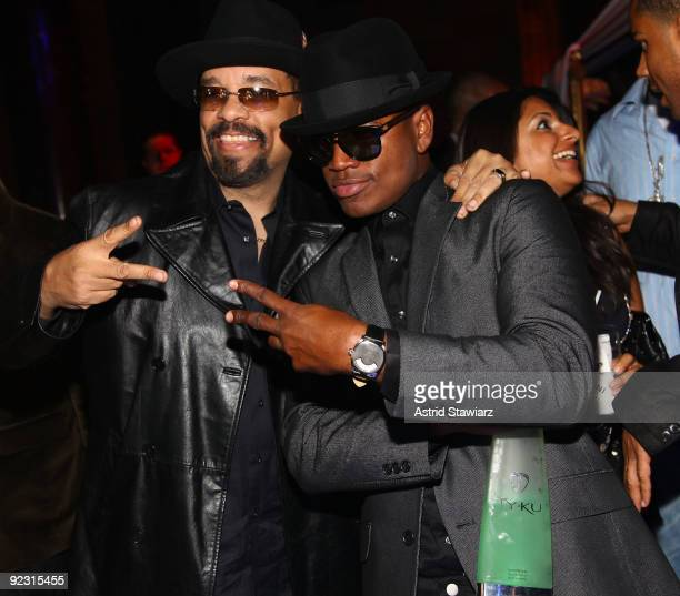 """Ice-T and Ne-Yo attend the 30th Birthday Bash """"Cold as Ice"""" at Cipriani 42nd Street on October 17, 2009 in New York City."""