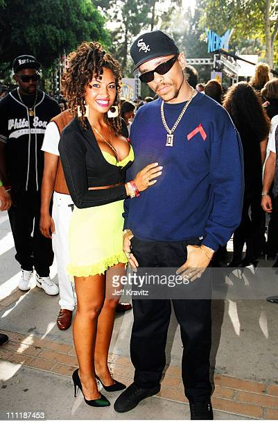 IceT and wife Darlene Ortiz during 1992 MTV Video Music Awards in Los Angeles California United States