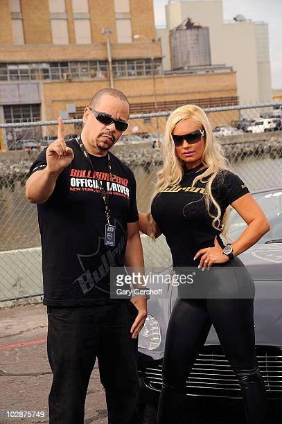 IceT and wife Nicole Coco Austin attend the 2010 AMP Energy Bullrun Rally kick off at Pier 54 on July 10 2010 in New York City