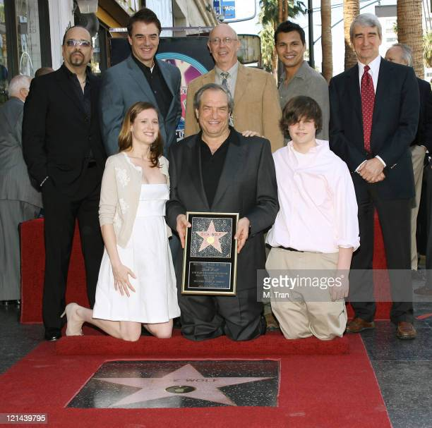 IceT Chris Noth Adam Beach Sam Waterston Dick Wolf with wife Noelle Lippman and son