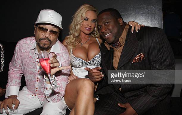 IceT CoCo and James Mark attend the JM Magazine launch party at La Pomme on November 18 2009 in New York City