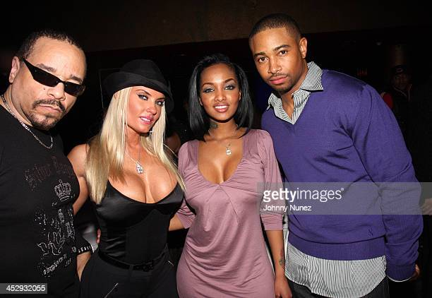 IceT Coco Angel Lola Luv and Kevin Phillips attend the after party for the premiere of Notorious at the Roseland Ballroom on January 7 2009 in New...
