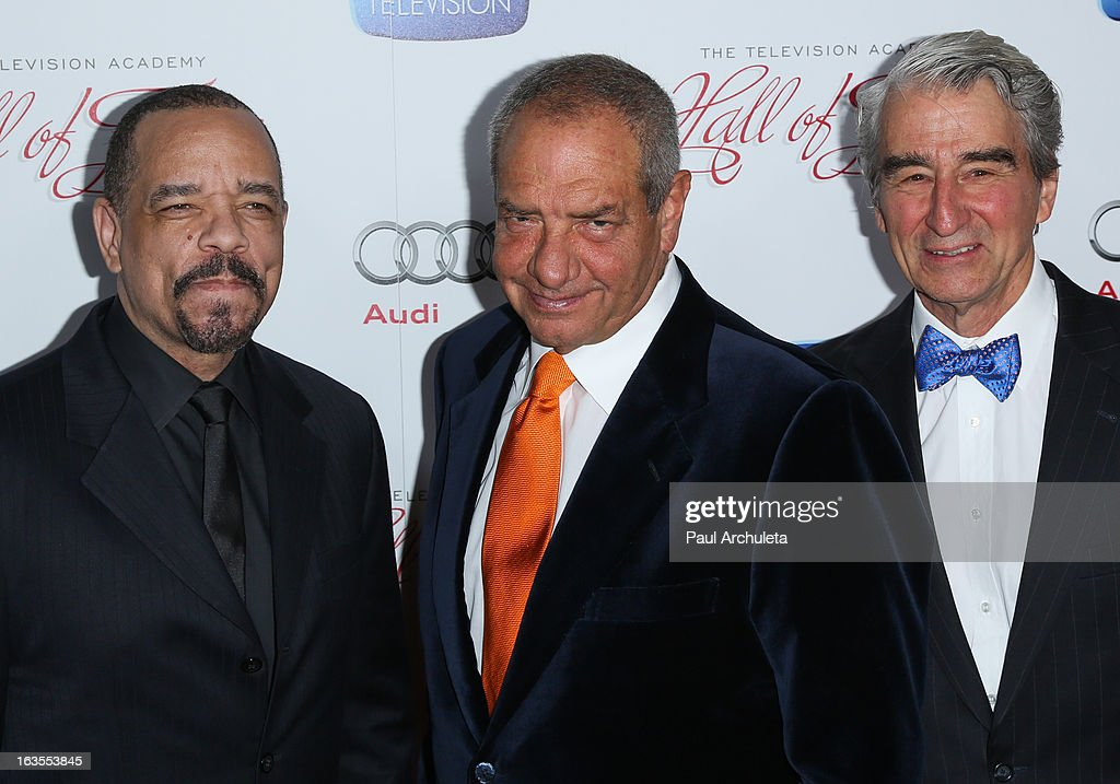 Ice-T, Dick Wolf and Sam Waterston attend the Academy Of Television Arts & Sciences 22nd annual Hall Of Fame induction gala at The Beverly Hilton Hotel on March 11, 2013 in Beverly Hills, California.