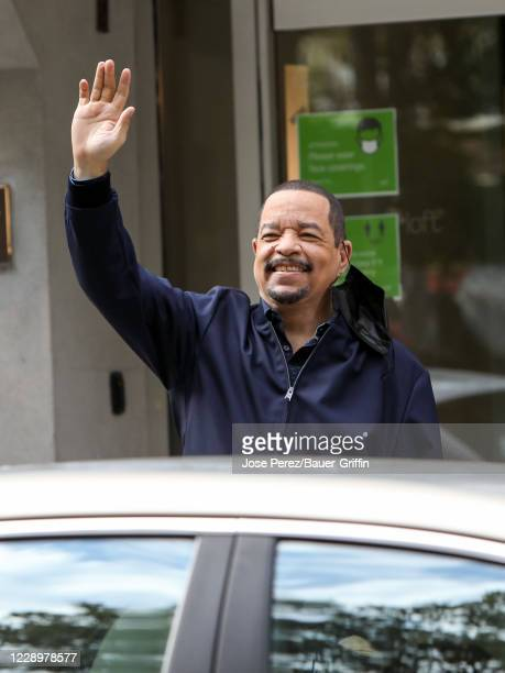 Ice-T is seen on the film set of the 'Law and Order: Special Victims Units' TV Series on October 09, 2020 in New York City.