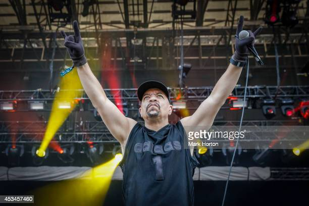 Ice-T of Body Count performs on Day 2 of the Heavy Montreal Festival on August 10, 2014 in Montreal, Canada.