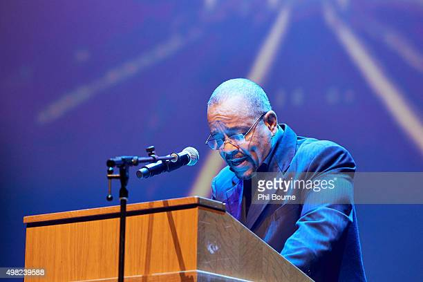 IceT performs at The Langston Hughes Project Ask Your Mama 12 Moods For Jazz at Barbican Centre on November 21 2015 in London England