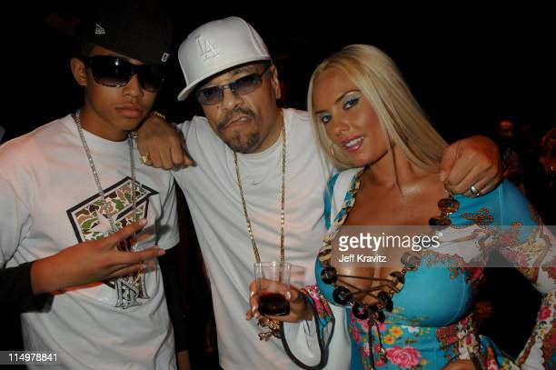 IceT with son Little Ice and wife Coco