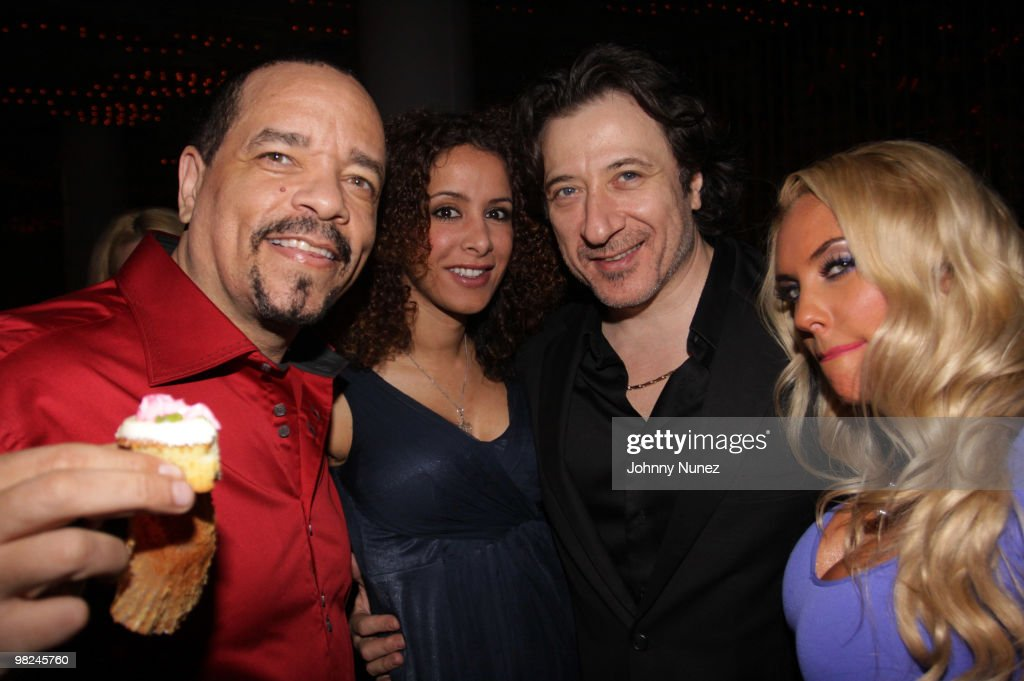 Ice-T, Yvonne Maria Schaefer, Federico Castelluccio, and Coco attend Coco's birthday party at the Hudson Eatery on April 3, 2010 in New York City.
