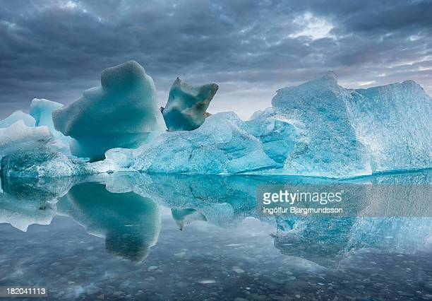 icey - glacier lagoon stock photos and pictures