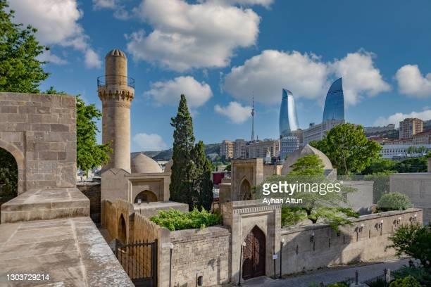 icheri sheher(old city) in baku, azerbaijan - baku stock pictures, royalty-free photos & images