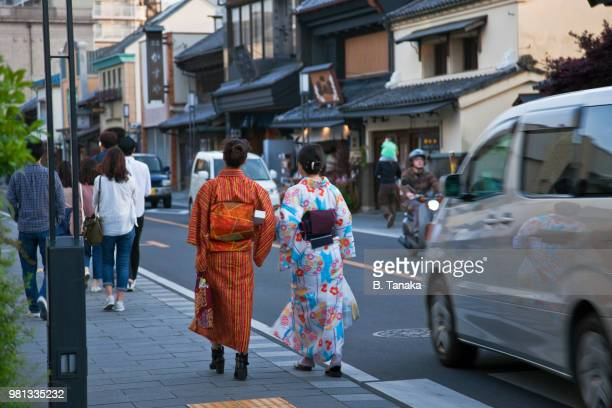 Ichibangai Street in the Kura Storehouse Old Town District of Kawagoe, Japan