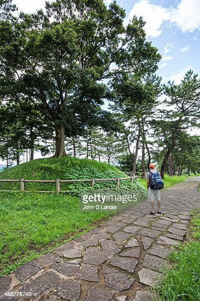 Ichirizuka on the Old Tokaido Road Ichirizuka are a kind of mileage marker or milestone Instead of marking kilometers they indicate ri which equals...
