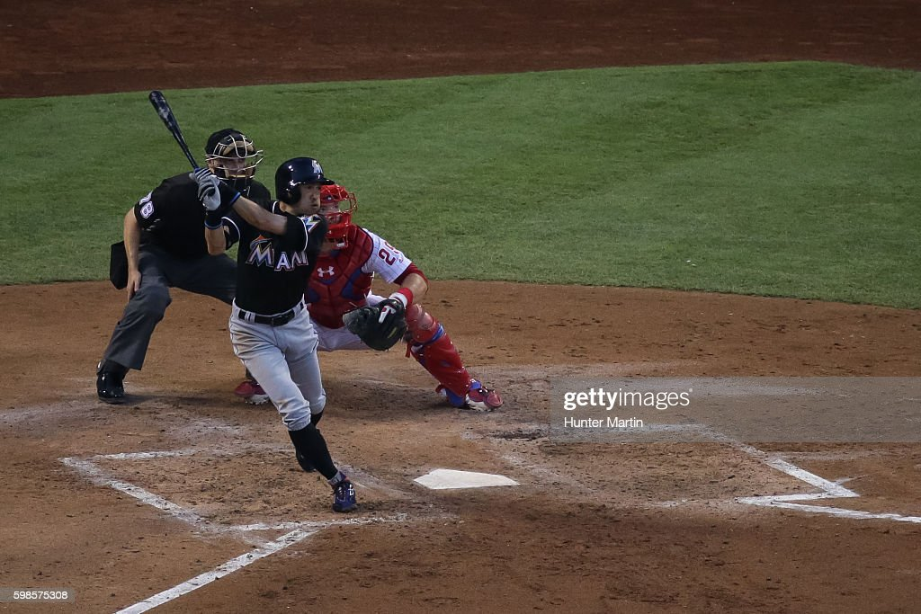 Miami Marlins v Philadelphia Phillies : ニュース写真