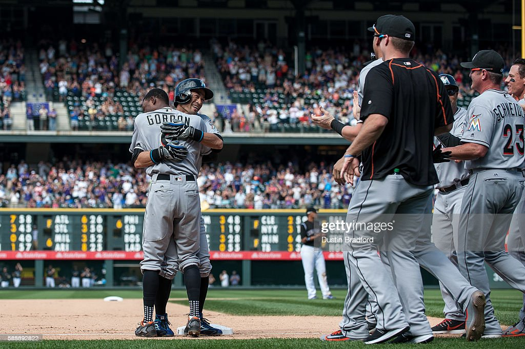 Miami Marlins v Colorado Rockies : ニュース写真