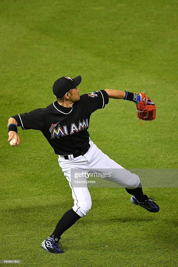 Ichiro Suzuki At St Louis Cardinals v Miami Marlins : News Photo