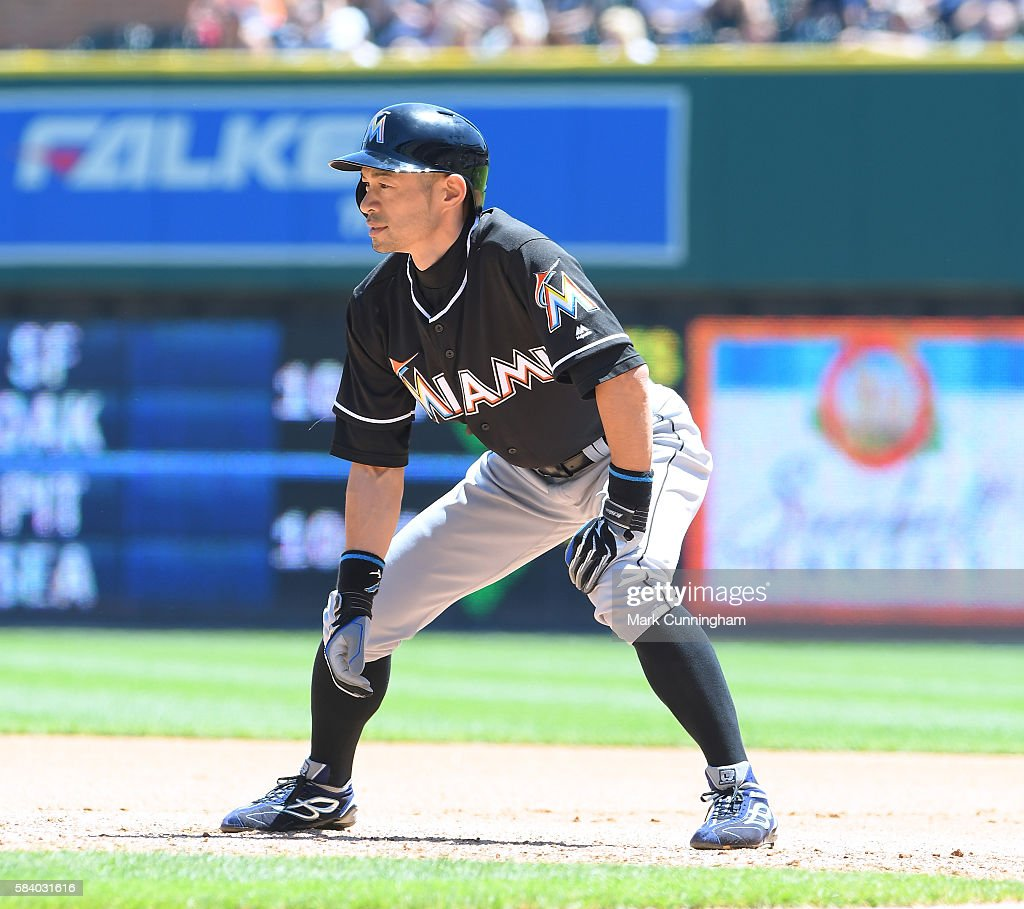 Ichiro Suzuki #51 of the Miami Marlins runs the bases during the 4th inning of the game against the Detroit Tigers at Comerica Park on June 29, 2016 in Detroit, Michigan. The Tigers defeated the Marlins 10-3.