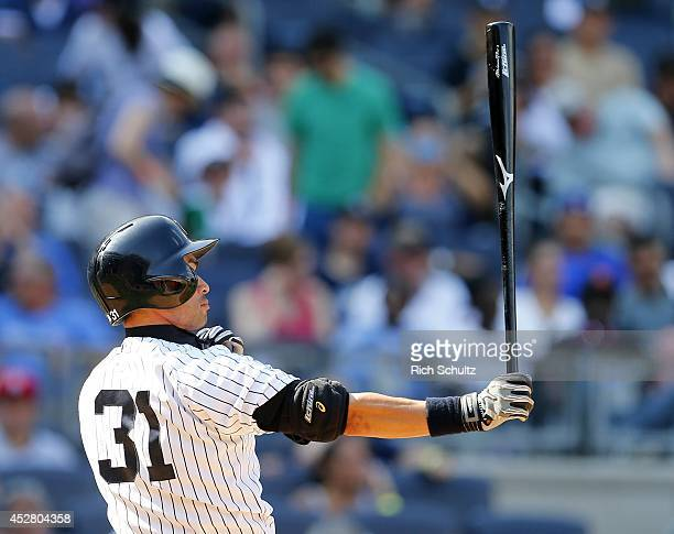 Ichiro Suzuki of the New York Yankees steps to the plate to pinch hit in the ninth inning against the Toronto Blue Jays during a MLB baseball game at...