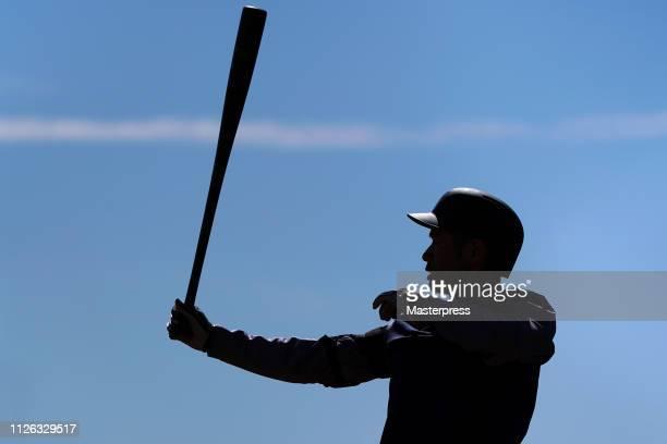Ichiro Suzuki of the Seattle Mariners in action during the Seattle Mariners Spring Training on February 20 2019 in Peoria Arizona