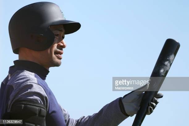 Ichiro Suzuki of the Seattle Mariners is seen during the Seattle Mariners Spring Training on February 20 2019 in Peoria Arizona