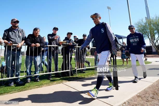 Ichiro Suzuki of the Seattle Mariners is seen during the Seattle Mariners Spring Training on February 20, 2019 in Peoria, Arizona.