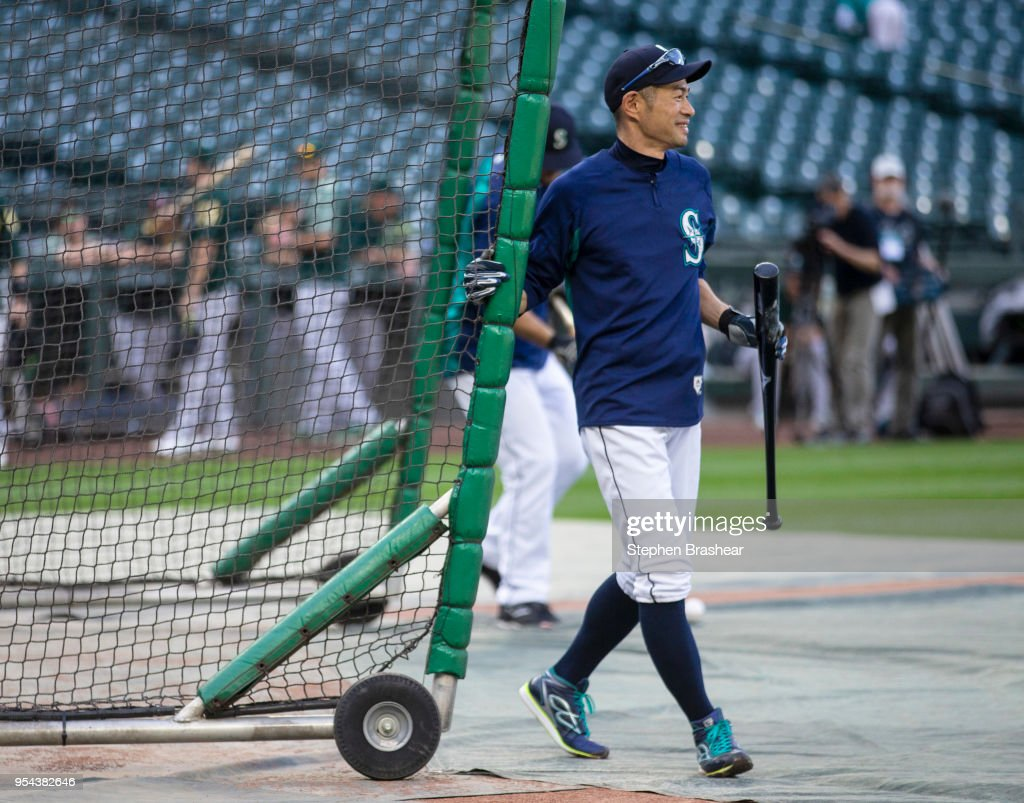 Ichiro Suzuki #51 of the Seattle Mariners leaves after taking batting practice before a game against the Oakland Athletics at Safeco Field on May 3, 2018 in Seattle, Washington. The Mariners announced before the game that Ichiro would transition out of a playing role for 2018 and into the front office as a special assistant to the chairman, effective today. Ichiro's agent said that the 10-time All-Star is not retiring, leaving open the possibility of returning to the field in 2019, according to published reports.