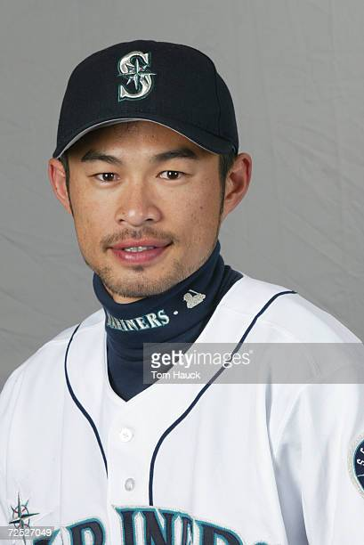 Ichiro Suzuki of the Seattle Mariners poses for a photo during Team Photo Day at the Mariners Spring Training in Peoria Az Digital Photo Photo by Tom...
