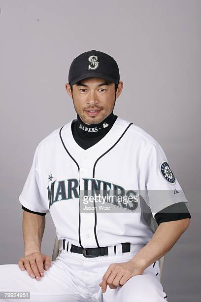 Ichiro Suzuki of the Seattle Mariners poses for a portrait during photo day at Peoria Sports Complex on February 21 2008 in Peoria Arizona