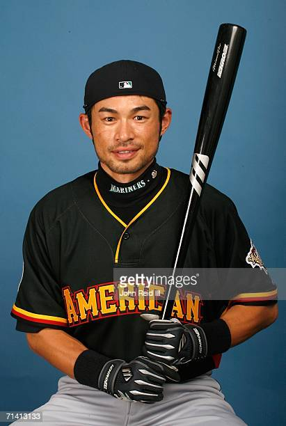 Ichiro Suzuki of the Seattle Mariners poses for a portrait during the 2006 AllStar Game Workout Day on July 10 2006 at PNC Park in Pittsburgh...