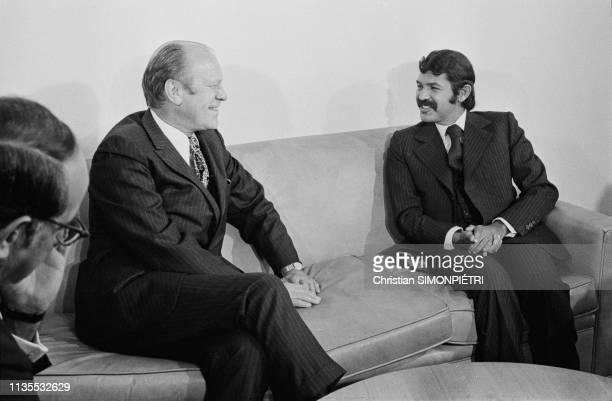 Ici le président des EtatsUnis Gerald Ford et le ministre des affaires étrangères Abdelaziz Bouteflika